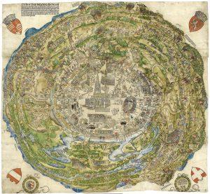 Rundansicht von Wien während der Belagerung von 1529 von Niklas Meldemann (1530). Bildquelle: Historisches Museum Wien