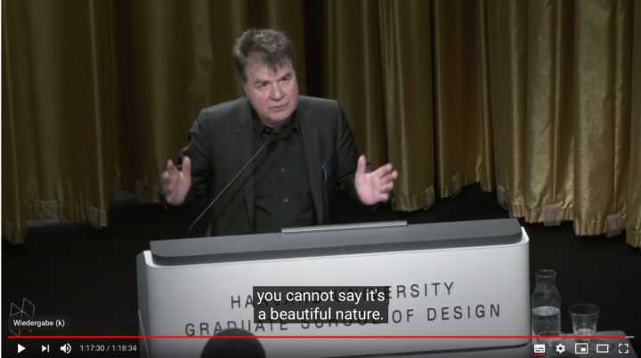 Now online: Günther Vogts Frederick Law Olmsted Lecture at Harvard University Graduate School of Design (GSD): «The Imprint of the Landscape»