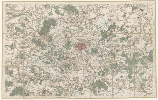 Wahlfach Territorium der Stadt, HS 2021: Paris. Ausschnitt aus der Karte von Frankreich, die unter der Leitung von Cassini erstellt wurde, 1756. Quelle: gallica.bnf.fr / BnF